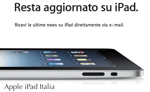 Ordinare Ipad in Italia prezzi costi del tablet