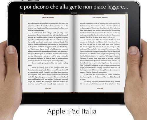 Un terzo delle persone userà iPad come un libro, giornale o rivista