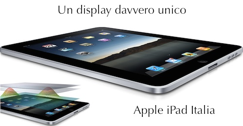 Specifiche tecniche display iPad Italia