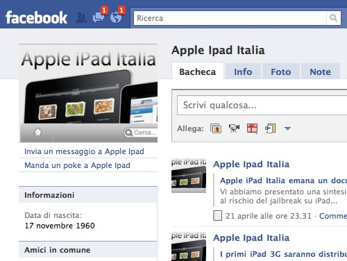 Facebook diventa compatibile con iPad