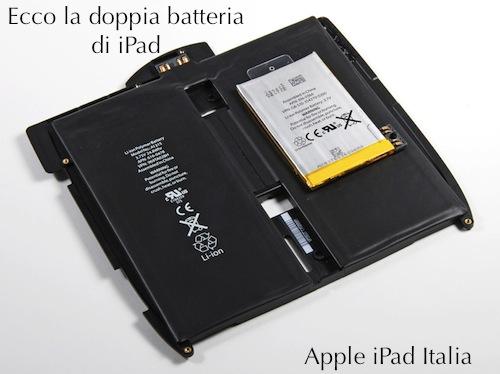 caratteristiche tecniche specifiche batteria iPad