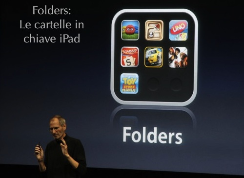 iPhone OS 4.0 folders, le cartelle per iPad Italia