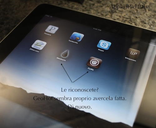 iPad unlock jailbreak sblocco