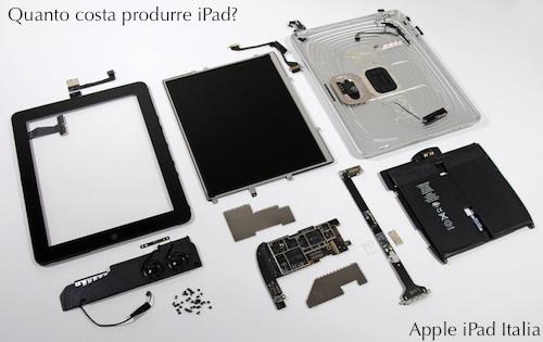 Prezzo componenti iPad