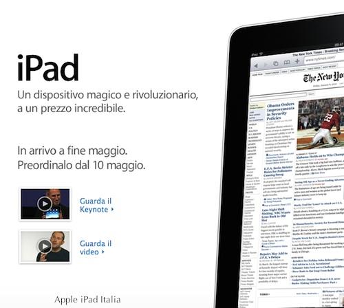 iPad in arrivo a fine maggio