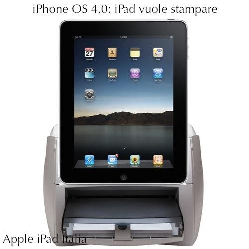 iPhone Os 4.0 abilita la stampa su iPad iPhone e iPod touch