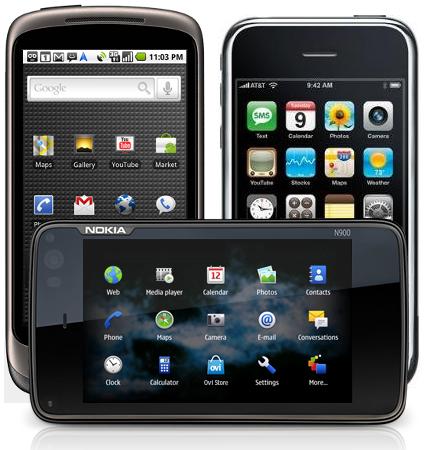 nokia intel meego linux ed android sfidano iphone