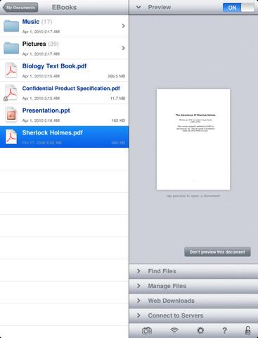GoodReader leggere file di diversi formati su iPad