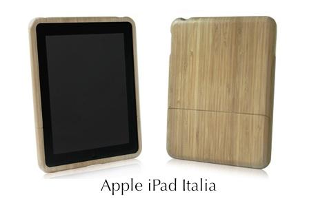 Cover in legno per iPad