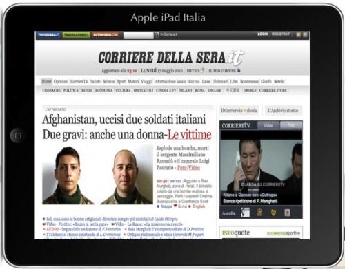 Quotidiano su iPad