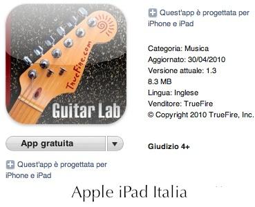 Recensione Guitar Lab per iPad
