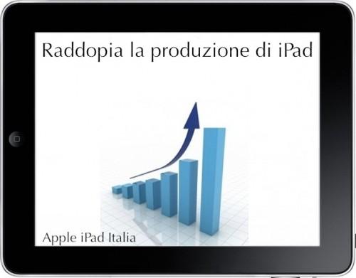 Apple produce tre milioni di iPad al mese