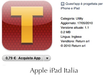 Tabs - Recensione di Apple iPad Italia