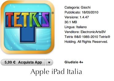 Tetris per iPad