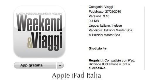 Rivista per iPad sui viaggi