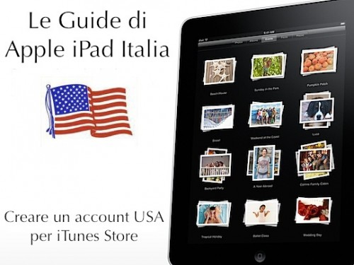 Come creare un account USA per iPad