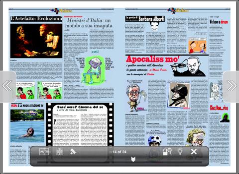 Testata giornalistica su iPad