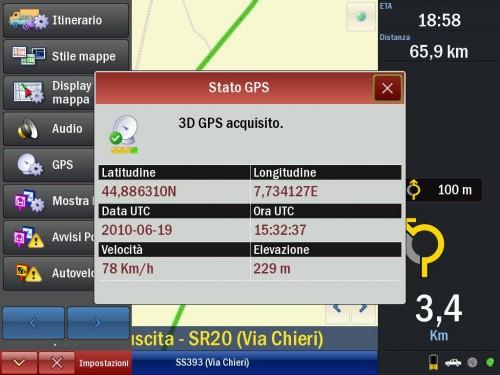 Il navigatore satellitare CoPilot per iPad