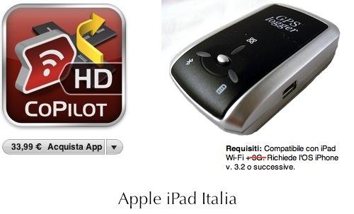 Utilizzare i sistemi di navigazione satellitari su iPad WiFi