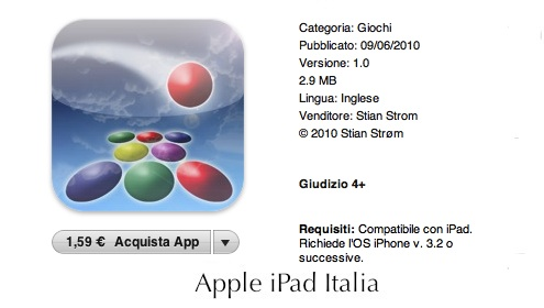 Gioco per iPad