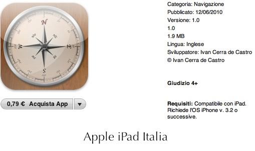 la prima bussola creata appositamente per iPad