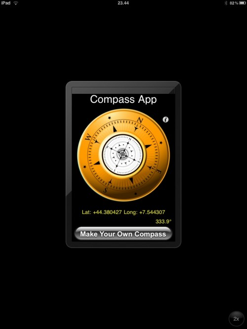 Una bussola gratuita per iPad