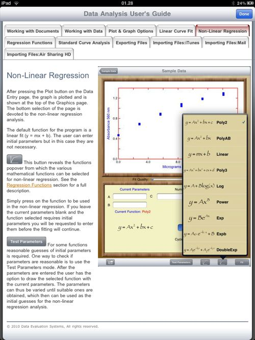 Condurre studi statistici con iPad