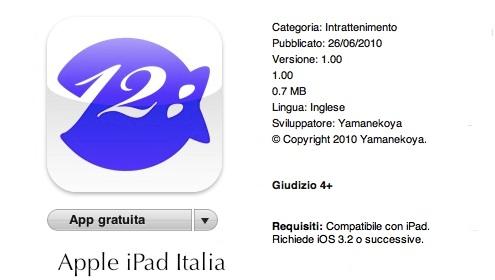 un orologio ittico per iPad