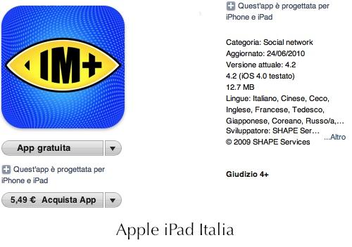 iChat, Facebook, twitter, skype, msn ecc. in un'unica App