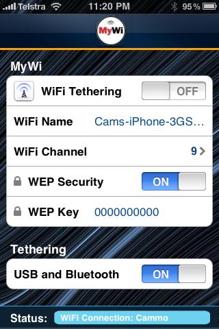 Per utilizzare MyWi bisogna utilizzare iOS 3.1.3