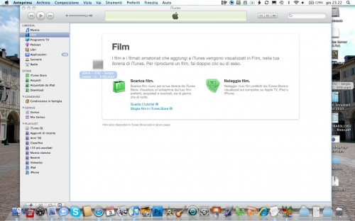 Trasciniamo il film all'interno di iTunes