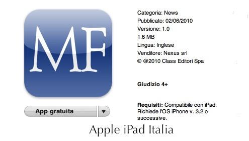 Giornale su iPad