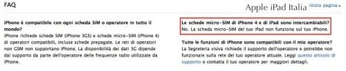FAQ di Apple