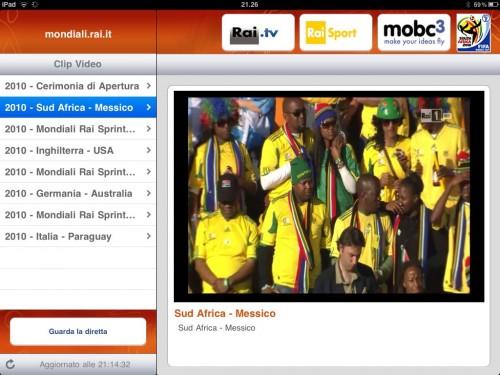 Come vedere i mondiali in diretta su iPad