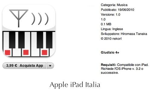 Suonare via MIDI con iPad