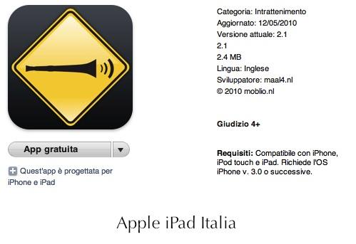 Tromba da stadio per iPad