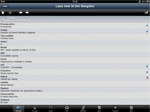 prontuario farmaceutico ora in formato IPad