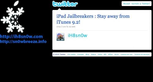 Non aggiornate iTunes 9.2