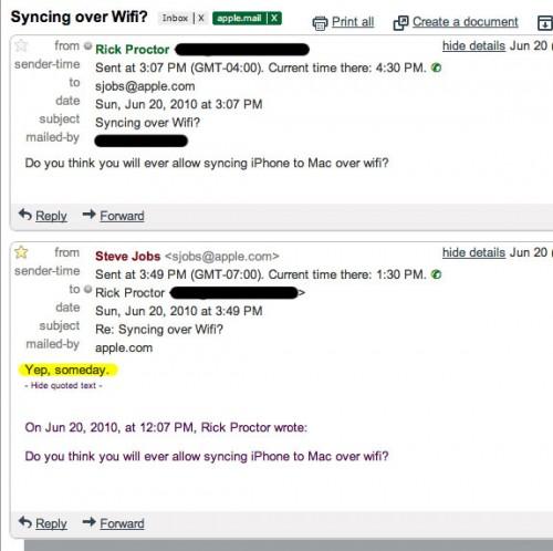 Si potrà sincronizzare iPad tramite WiFI