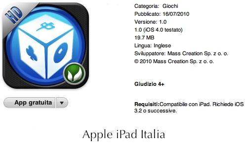 tanti giochi in una app per ipad
