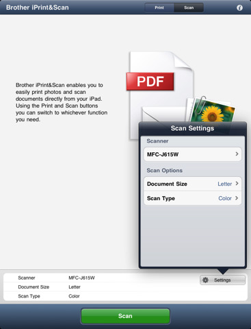 stampare e scannarizzare da ipad