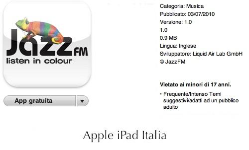 Musica Jazz su iPad