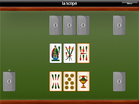 La Scopa gioco di carte per ipad