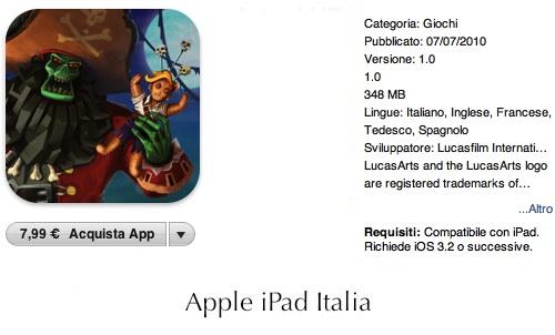Monkey Island arriva su iPad