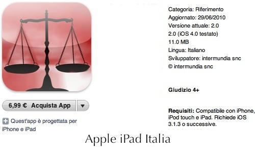Il codice penale a portata di iPad