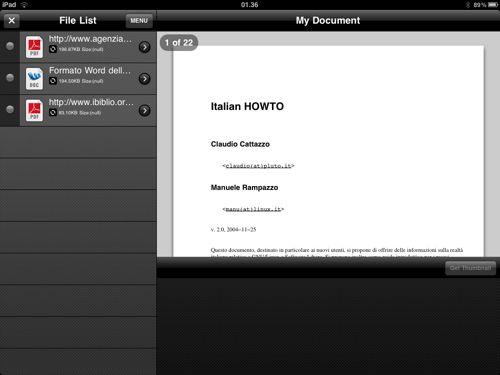 Salvare i documenti direttamente da iPad