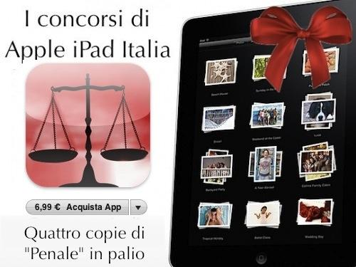 Redeem di Penale contest Apple iPad Italia