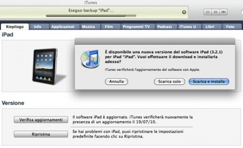 è uscito l'aggiornamento 3.2.1 per iPad