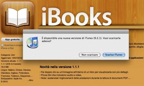 aggiornamenti iBooks e iTunes