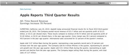 ecco i risultati del terzo trimestre Apple